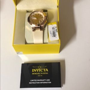 Women's rose gold Invicta watch